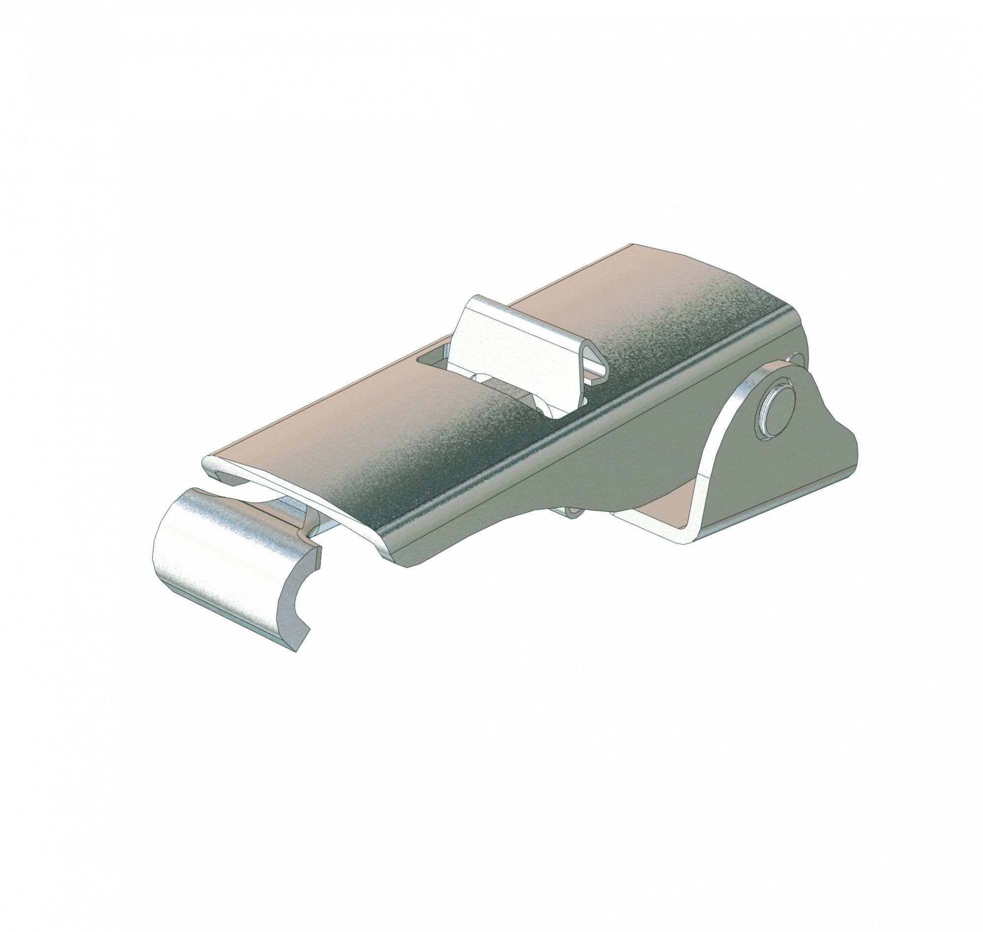 DRAW LATCH - STAINLESS STEEL - (CONCEALED W/ SECONDARY CATCH